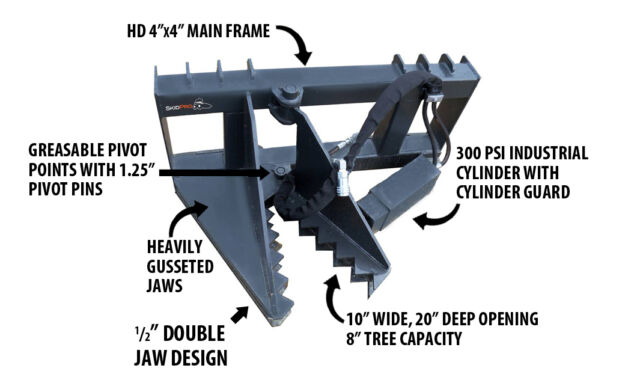 Bobcat Skid Steer Tree Puller Attachment -fits Holland Cat Gehl Kubota Deere