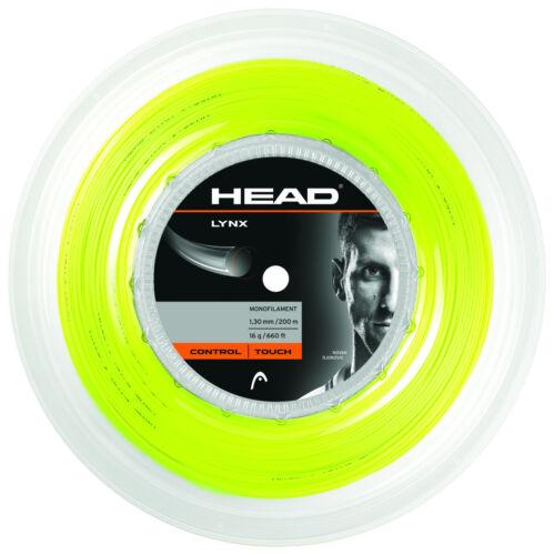 0,36€//m Head Lynx 125 Yellow 200 m Tennissaiten