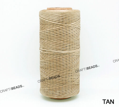 1x0.5MM Flat Braided Waxed Polyester Cord Beading Thread Craft Stitching String