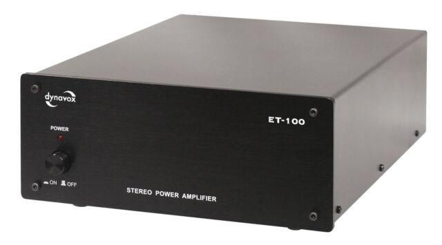 Dynavox ET-100 Black Stereoendstufe High Quality 2 x 60 W RMS ET100 Power