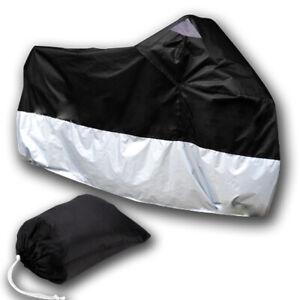 Waterproof-Motorbike-Motorcycle-Bike-Outdoor-Rain-Cover-Black-Silver-XXL-Bag
