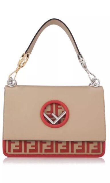 528223ac684a Fendi Kan I F Bag (beige Red Calfskin Leather) for sale online