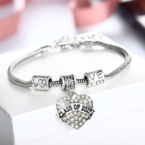 Crystal Dance Mom Grandma Sister Bracelet Bangle Jewelry Love Heart Teacher Gift
