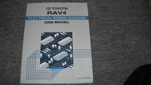 2006 Toyota Rav4 Electrical Wiring Diagram Service Shop