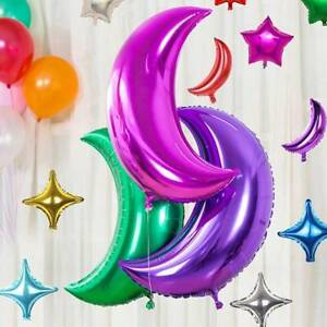 36 inch Half Moon Crescent Foil Balloons Helium Air Fill Birthday Party Supplies
