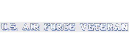 "U.S Air Force Veteran Window Strip Decal Sticker Clear Back OFFICIAL 18/""X1.25/"""