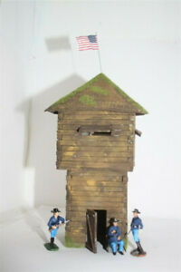 Old-West-3174-US-Fort-Wachturm-Snake-River-Wild-West-zu-7cm-Sammelfiguren