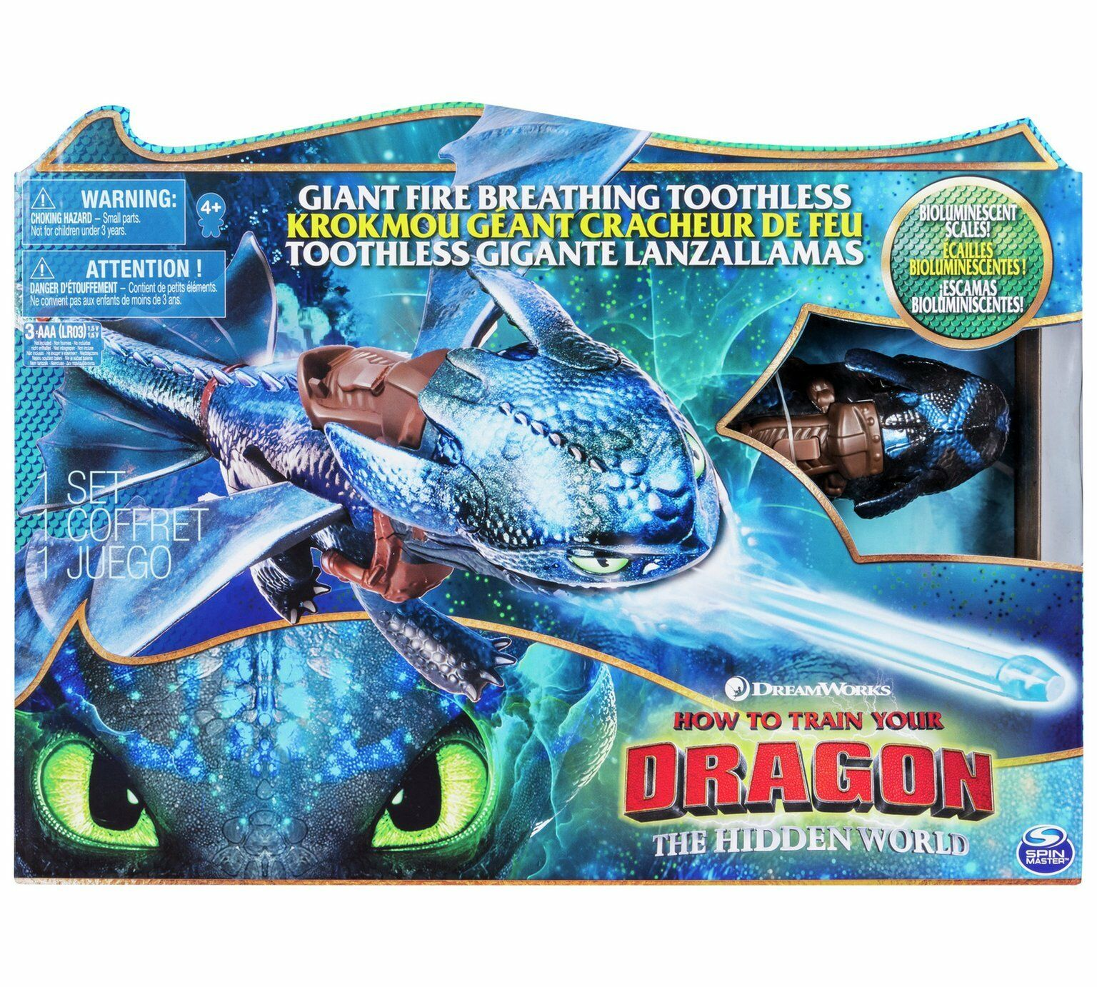 How To Train Your Dragon The Hidden World World World - Giant Fire Breathing Toothless c1e446