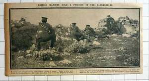 1915 British Marines Holding Position In The Dardanelles - <span itemprop='availableAtOrFrom'>Bishop Auckland, United Kingdom</span> - If for any reason you are not satisfied with your item, do let us know. If you wish to return it, you may, within 14 days, and we will issue you with a full refund. Most purchases - <span itemprop='availableAtOrFrom'>Bishop Auckland, United Kingdom</span>