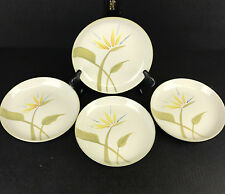 """Vintage Winfield Bird of Paradise Salad Plate 7-1/2"""" Hand Crafted CA Set of 4"""