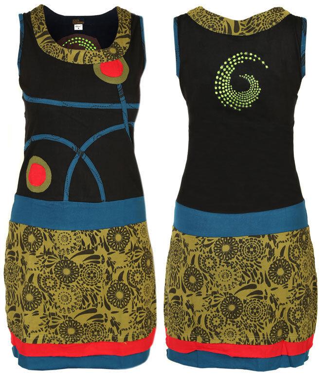 Handgemachte Baumwolle Hippie Natürlich Kathmandu Kleid Boho Retro Vintage