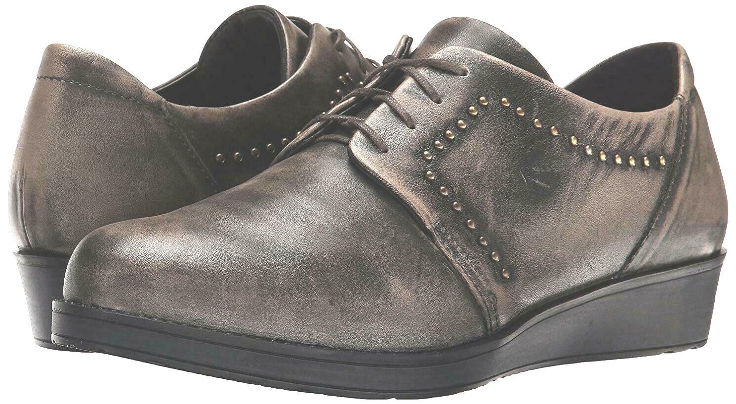Naot Embrace Flat Vintage Grey Leather, Size 36 36 36 EUR   5.5 US f8d233
