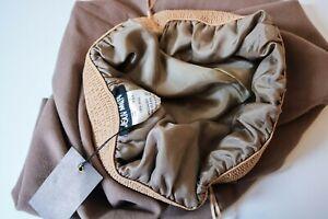 Vintage-Designer-Jean-Muir-LightBrown-Skirt-Circa-80s-Elastic-waist-UK-14