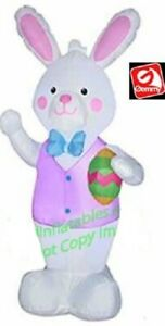 EASTER BUNNY WITH EGG  AIRBLOWN INFLATABLE YARD DECORATION 4 FT  GEMMY