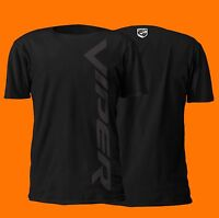 Dodge Viper Vertical Black On Black Design 100% Cotton T-shirt   V10 Srt Mopar