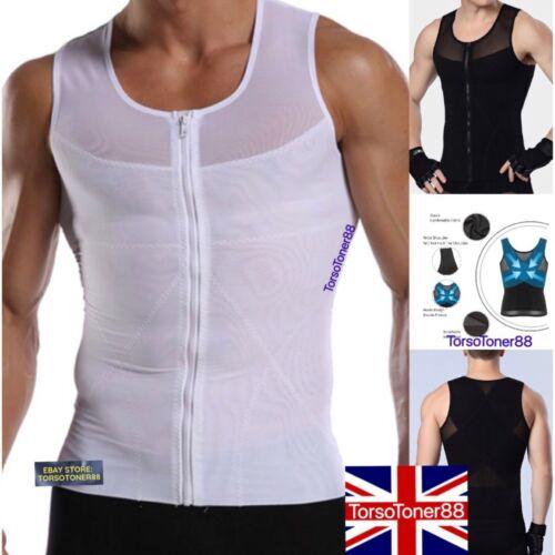 Mens Best Shapewear for Man Boobs Gynecomastia Tummy Tucker Trimmer Control Vest