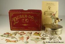 Antike Zauber Dose mit Oblaten Figuren J.Schoenner um 1890/1900