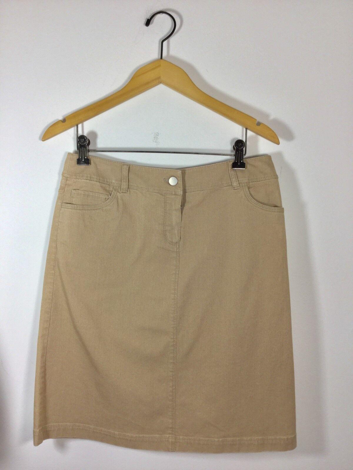 LAFAYETTE 148 NEW YORK Khaki Size 4 Straight Knee Length Skirt