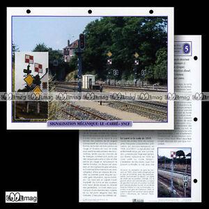 #020.08 Fiche Train - Chemin de fer SIGNALISATION MECANIQUE - LE CARRE SNCF o88m8Pmn-09160316-204854684