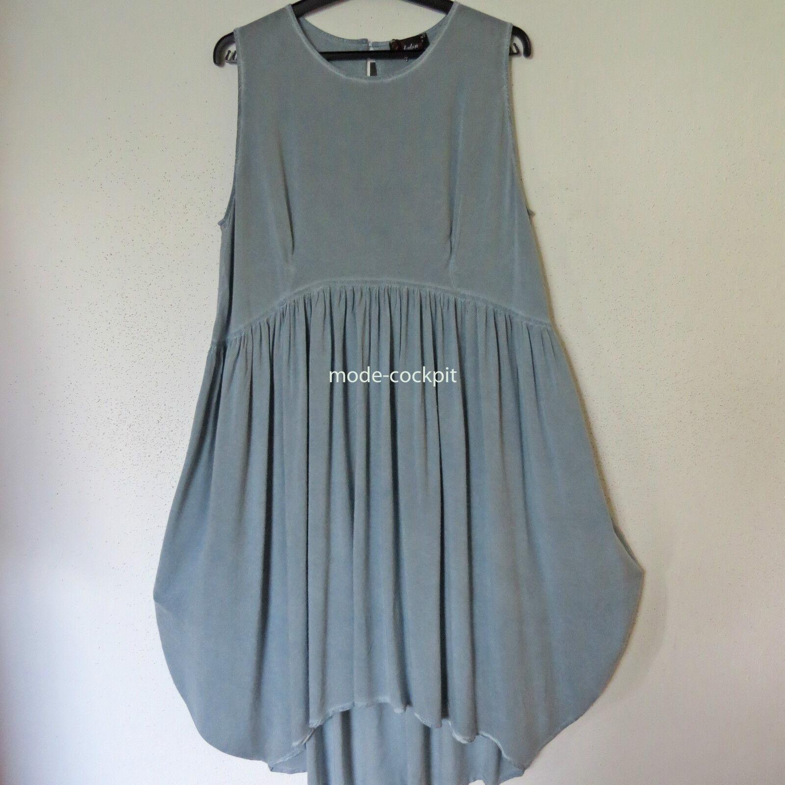 CHALONA tolles Ballon Kleid Lagenlook Vintage blau Viskose Gr. 48-50 (3)