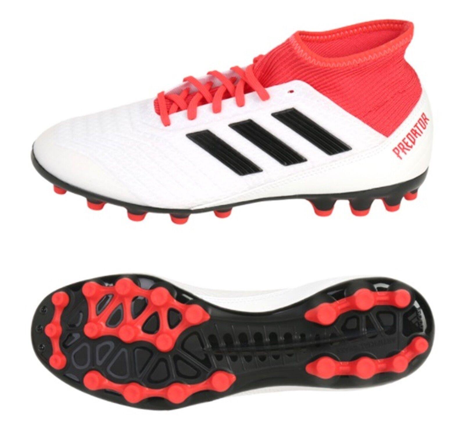 Adidas Hombres Projoator 18.3 AG Botines De Fútbol blancoo Rojo Fútbol Zapatos Spike CP9307