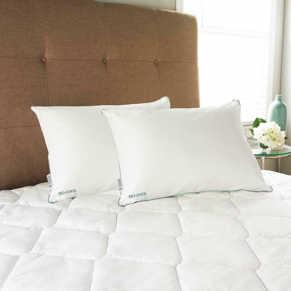 IsoCool Queen Größe Pillow Bed Sleeping Polyester Cotton 300 Tread Count 2 Set