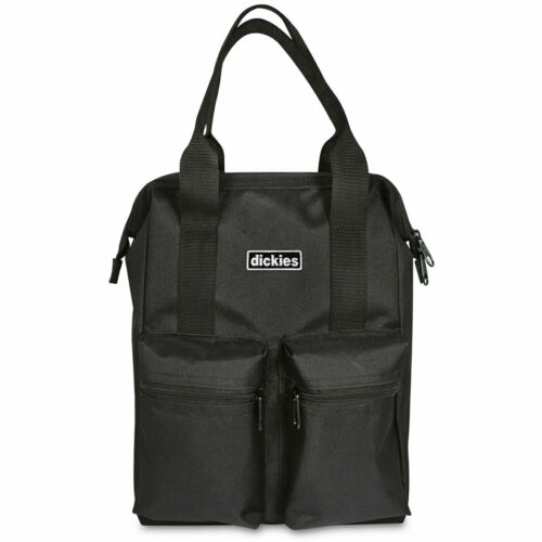 Dickies Unisex Zip Top Hybrid Totebag Poly Backpack Bag Black Market Accessor...
