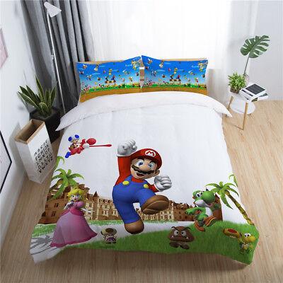 3d Super Mario Bros Game Kids Bedding, Super Mario Bros Full Size Bedding