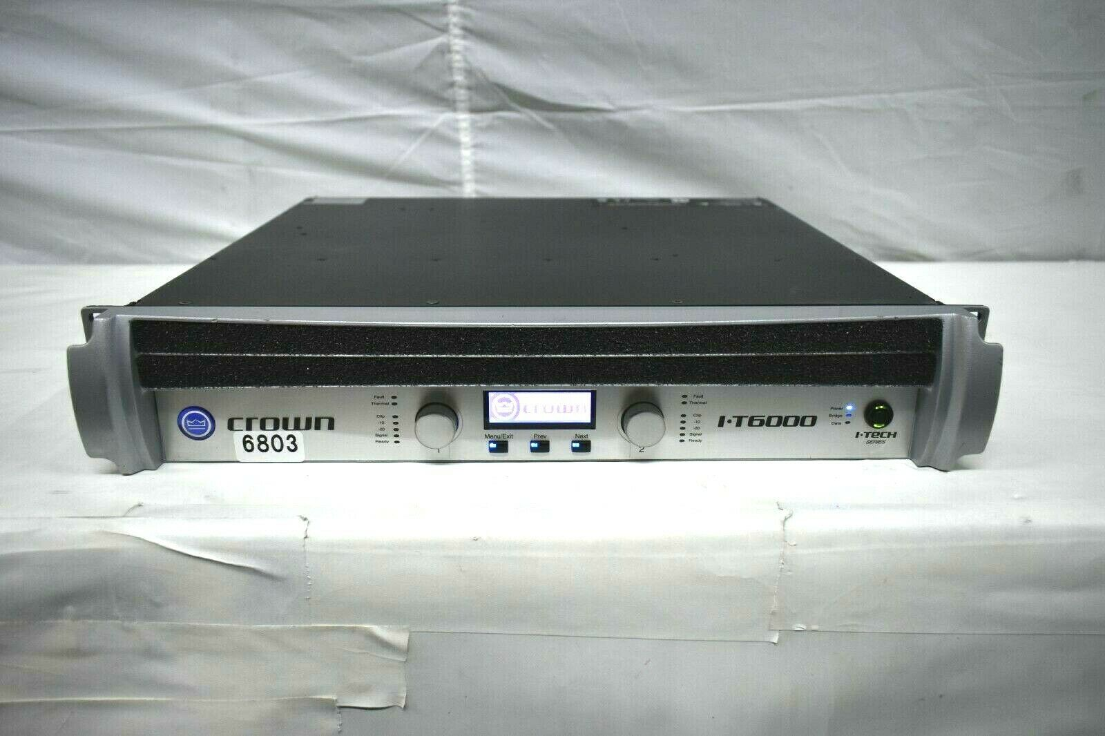 CROWN I-TECH I-6000 120V POWER AMPLIFIER  6803 (ONE)