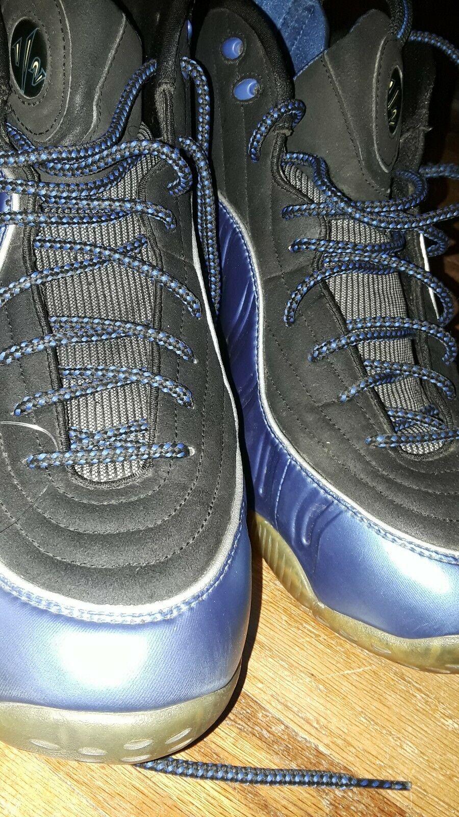 Nike Air Penny 1 2 Cent Varsity Royal Black Silver 344646-401 Foamposite 11.5