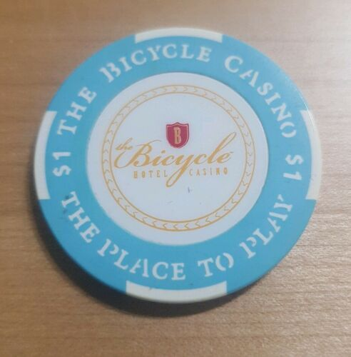 The Bicycle Casino live at the bike LA Los Angeles $1 Casino Poker Chip