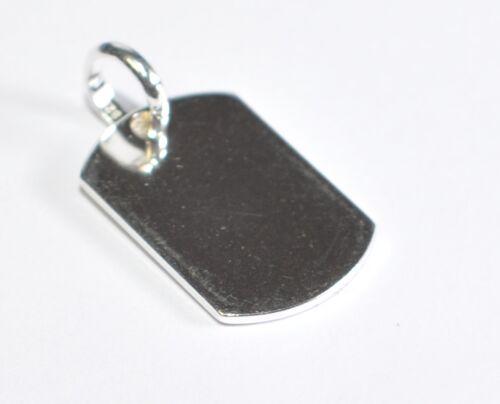 1,8 cm x 1,2 cm grabado disco-remolque con grabado en 925er plata cadena de nombres