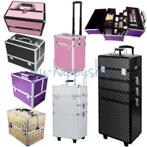 Image is loading Waterproof-Beautician-Trolley-Cosmetic-Case-Large-Makeup- Suitcase- & Waterproof Beautician Trolley Cosmetic Case Large Makeup Suitcase ...