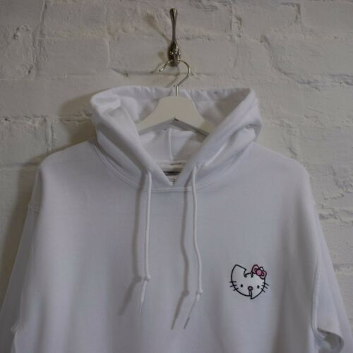 Wu Actual Cartoon Hello Kitty X Hooded Fact Japanese Sweatshirt Hoodie White qwxRTwa5