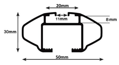 ab 2014 Alu Dachträger RB003 kompatibel mit Mercedes GLA 5Türer
