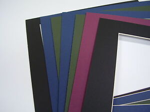 Picture Mat Custom Cuts And Dark Colors 6 Mats Special
