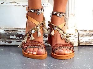 b358fcddadc3 Image is loading Delos-Art-Leather-Boho-Sandals-034-Atlantida-034-