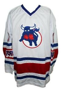 Any Name Number Size Toronto Toros Custom Retro Hockey Jersey White