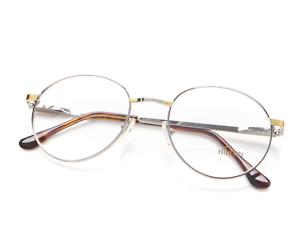 Vintage-Hilton-632-04-Silver-Round-Eyeglasses-Optical-Frame-Glasses-Lunettes