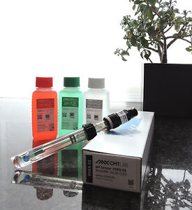 pH-Sensor-Elektrode-Kunststoffschaft-KCL-3mol-pH4-pH7-Pufferlosung
