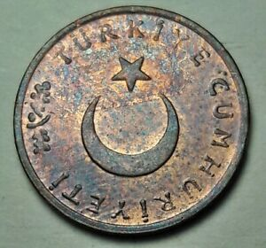 1965-TURKEY-1-KURUS-BU-UNC-COLOR-TONE-RARE