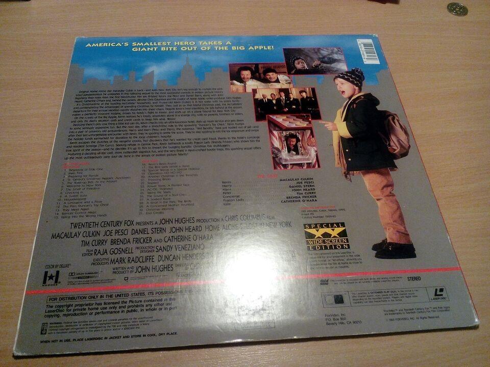 Home alone 2 lost In new york, Laserdisc film, komedie