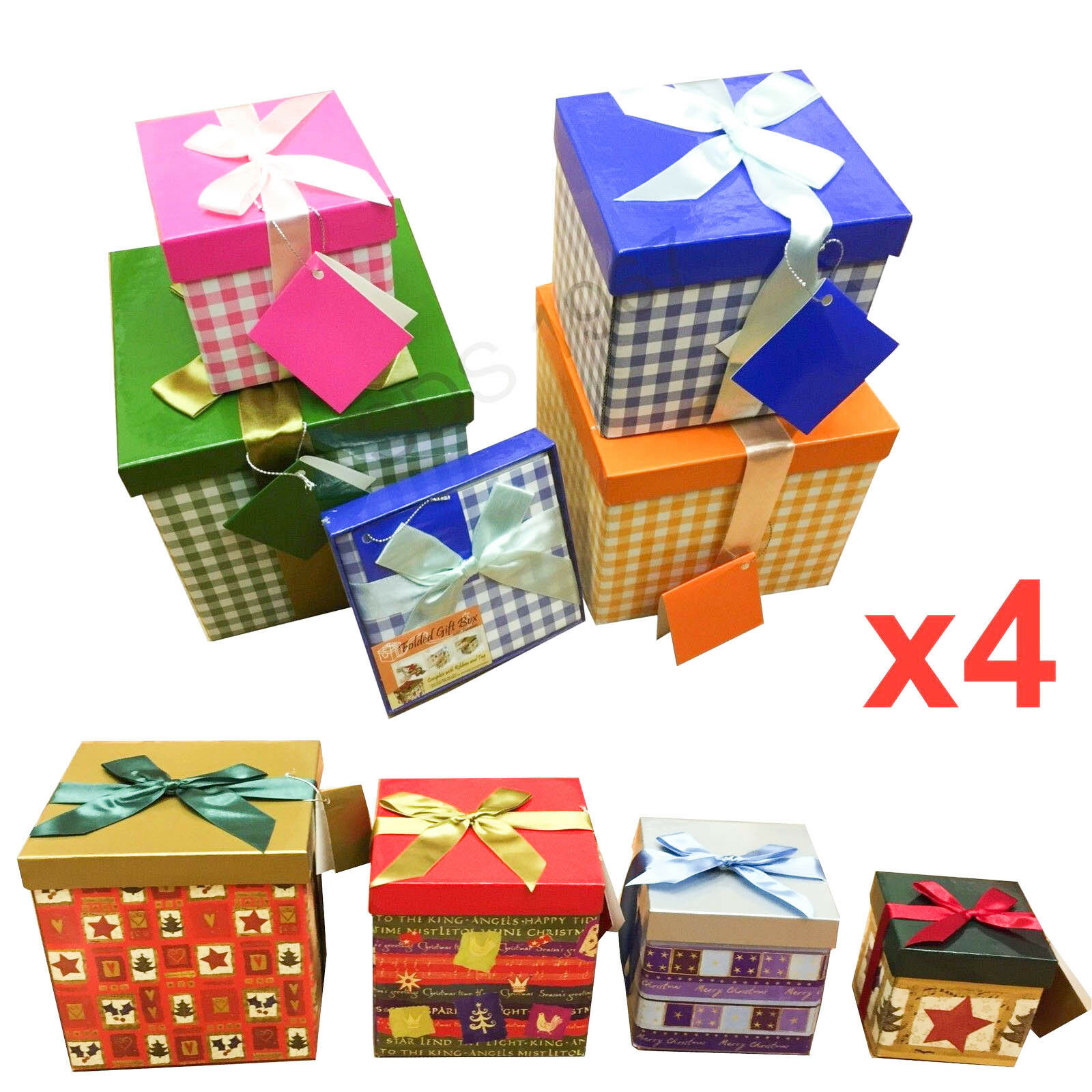 4x high quality gift boxes bag folded necklace bracelet christmas gift wholesale - Christmas Gift Boxes Wholesale