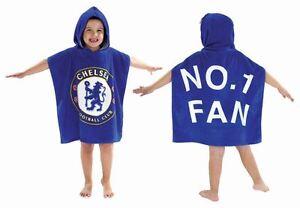 Childrens-Kids-Chelsea-Football-Club-Poncho-Towel-100-Cotton-60x120cm