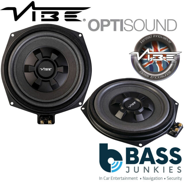 """Vibe BMW8-V4 BMW X3 (F25) 8"""" Underseat Factory Fit Car Sub Subwoofers PAIR"""