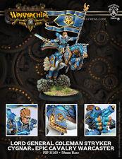 Warmachine BNIB - Cygnar Epic Cavalry Warcaster Lord General Colemen Stryker