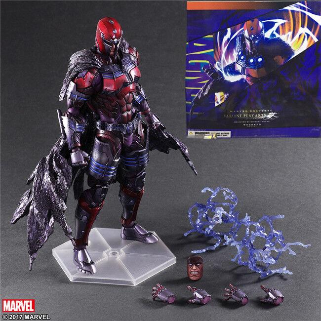 Marvel Universe Variant Play Arts Kai X-Men Magneto Action Figures Statue Toy