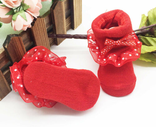 Toddler Kids Baby Boy Girl  Combed Cotton Ankle Socks Bowknots Anti-slip Socks