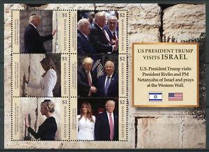 Îles Marshall 2018 Neuf Sans Charnière Donald Trump Visites Israël Netanyahu 6 V M/s Timbres-afficher Le Titre D'origine