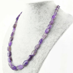 224.50 Cts Natural Blue Flash Labradorite /& Amethyst Round Shape Beads Necklace